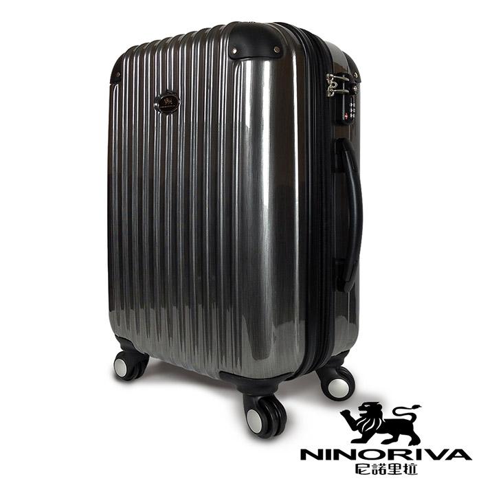 義大利NINORIVA 24吋行李箱/旅行箱/拉桿箱 輕量 TSA鎖 可加大 新髮絲紋抗刮-鐵灰