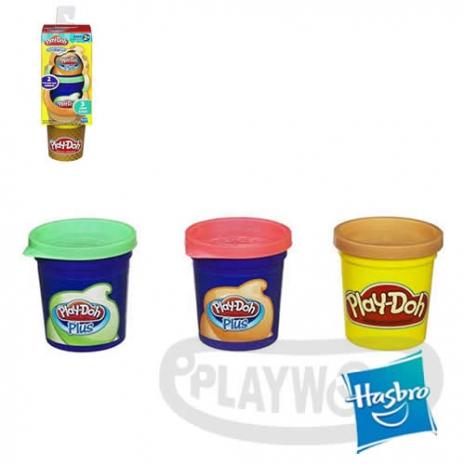 《玩具森林》[培樂多黏土PLAYDOH]補充罐-甜點系列 柑橘青蘋果 水果口味冰淇淋(3罐裝/孩之寶Hasbro/安全無毒)