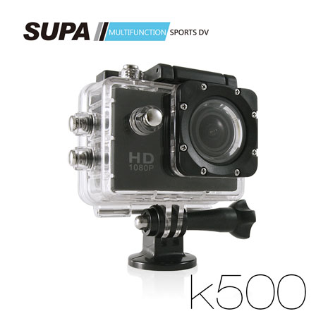 SUPA 速霸 K500 1080P 極限運動防水型攝影機-超強版 汽機車兩用