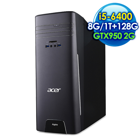 ACER T3-715 i5-6400  桌上型電腦(i5-6400 /8G/1TB+128G/GTX950 2G/Win10)