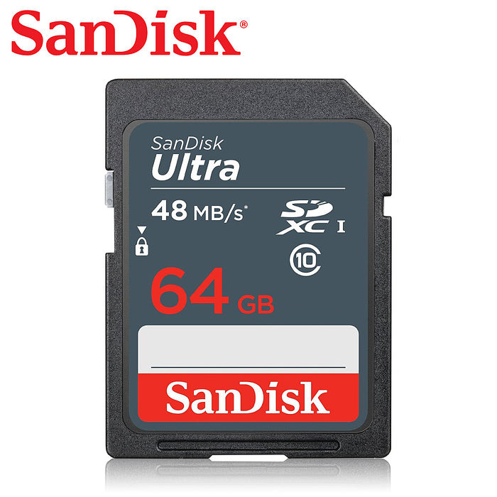 SanDisk Ultra SDHC/SDXC UHS-I 64G 記憶卡 每秒48MB (群光公司貨)