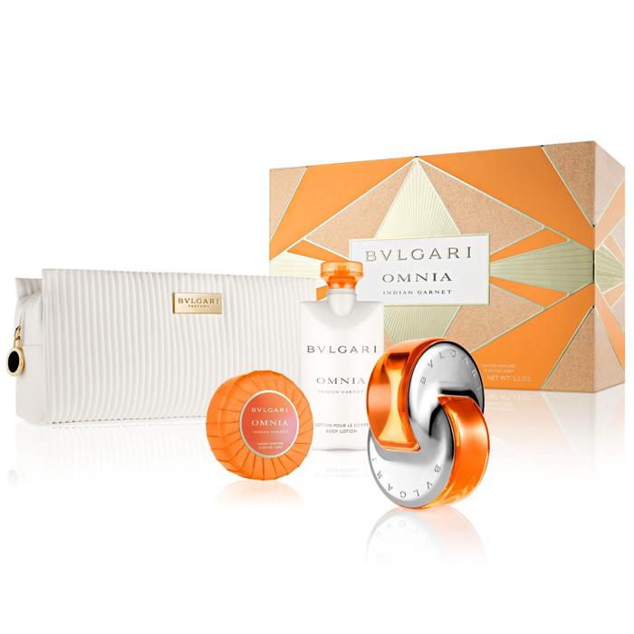 【BVLGARI 寶格麗】晶燦女性香氛禮盒(淡香水+體乳+香皂+化妝包)