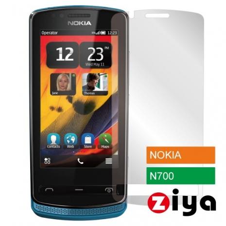 ZIYA Nokia n700 Zeta 抗刮亮面螢幕保護貼 - 2入