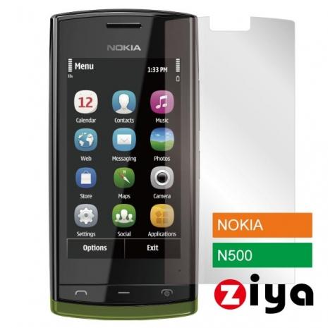 ZIYA NOKIA X STAYREAL N500抗刮亮面螢幕保護貼 - 2入