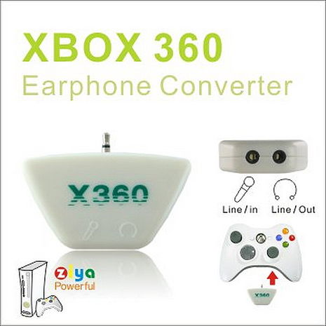[ZIYA] XBOX360 手把轉接器 (含耳機與麥克風接孔 一入)