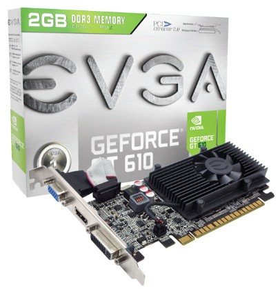 EVGA 艾維克 GT610 2GB D3 顯示卡