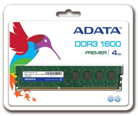 A-DATA 威剛 4GB DDR3 1600 桌上型記憶體