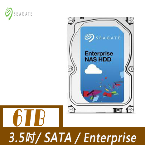 Seagate 希捷 企業級NAS 6TB 3.5吋SATAⅢ硬碟 (ST6000VN0001)