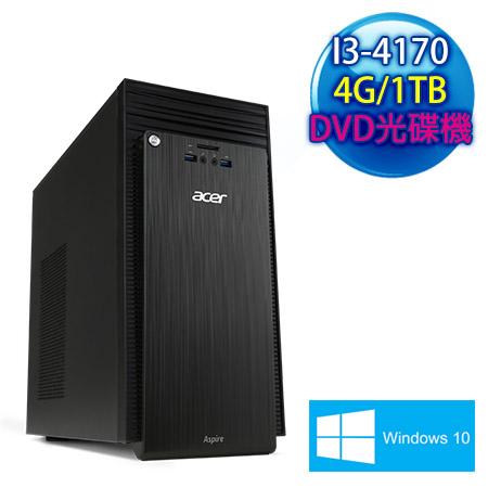 ACER宏碁 TC-705 Intel I3-4170雙核 4G記憶體 Win10電腦(TC-705-EE023)