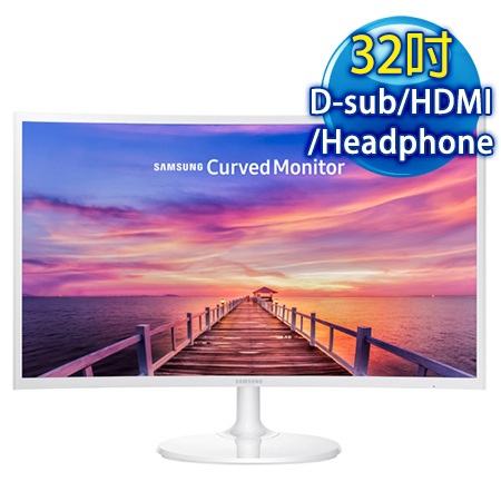 【買就送】SAMSUNG三星 C32F391FWE 32型 VA曲面(16:9)寬液晶螢幕