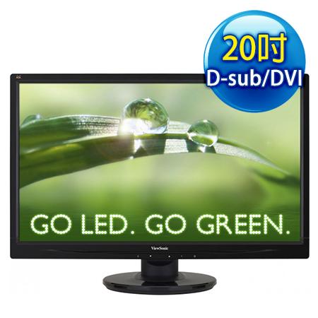 ViewSonic優派 VA2046m 20型 雙輸入省電 寬液晶螢幕