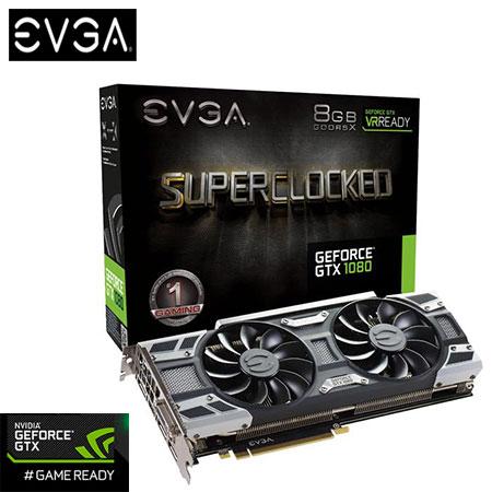 EVGA 艾維克 GTX1080 8GB SC BP ACX3.0 顯示卡 (08G-P4-6183KR )
