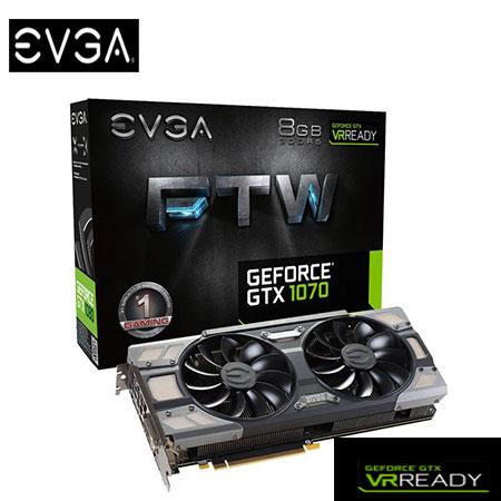 EVGA 艾維克 GTX1070 8GB FTW BP ACX3.0 顯示卡(08G-P4-6276-KR )