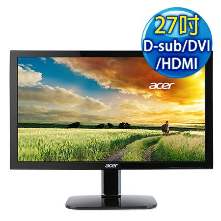 Acer宏碁 KA270H 27型 VA不閃屏濾藍光液晶螢幕
