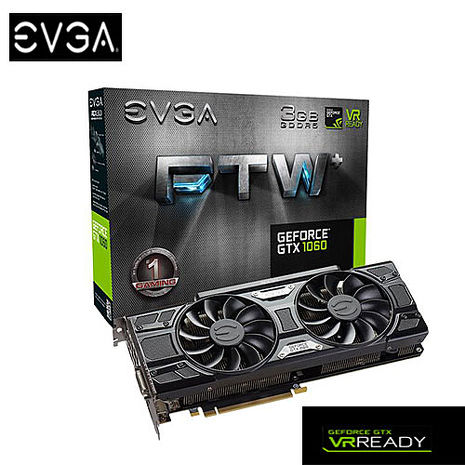 EVGA 艾維克 GTX1060 3GB FTW+ GAMING ACX3.0 顯示卡 (03G-P4-6367-KR)