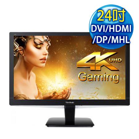 ViewSonic優派 VX2475Smhl-4K 24吋 HD超高解析度遊戲液晶螢幕