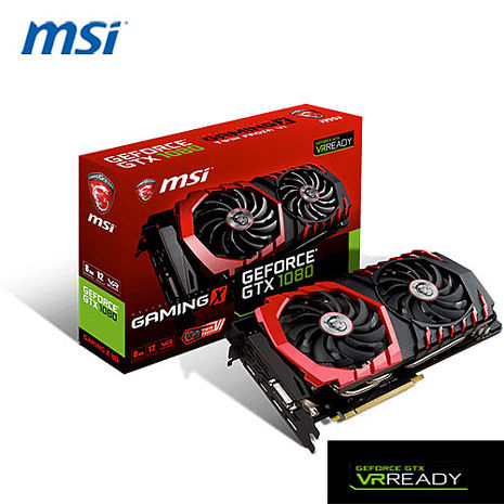 MSI 微星 GeForce GTX 1080 GAMING X 8G 顯示卡