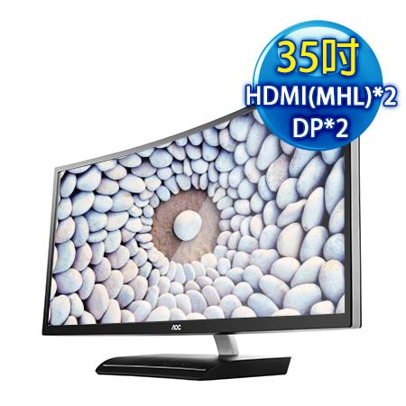 AOC艾德蒙 C3583FQ 35型21:9 MVA曲面四介面電競液晶螢幕