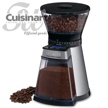 美國Cuisinart  頂級數位圓錐式咖啡研磨器(CBM-18NTW)