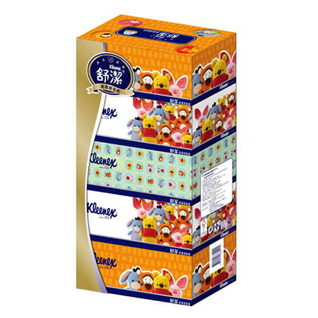 【舒潔】風情盒裝面紙140抽(5盒x10串)