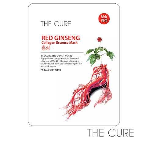 【韓國THE CURE】紅蔘抗老膠原蛋白精華面膜(1片)