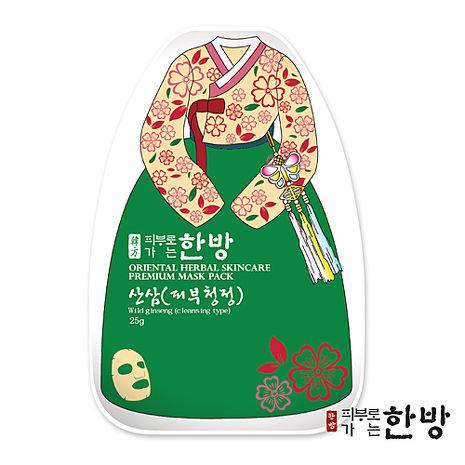 【韓國 東方美學】野山蔘毛孔清潔草本面膜(1入)