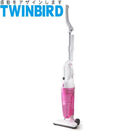 日本TWINBIRD-手持直立兩用吸塵器(粉) TC-5121TWP