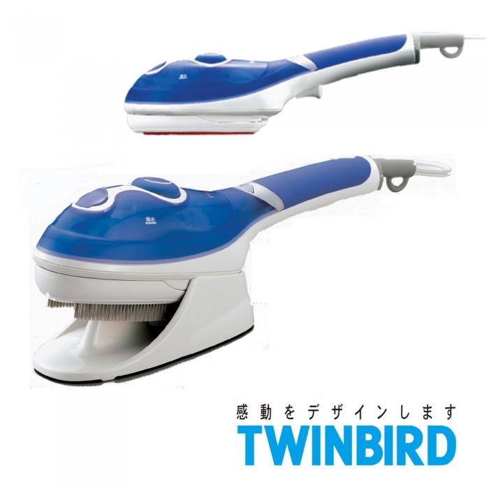 ★福利品★日本TWINBIRD-手持式蒸氣熨斗(藍)SA-4084B