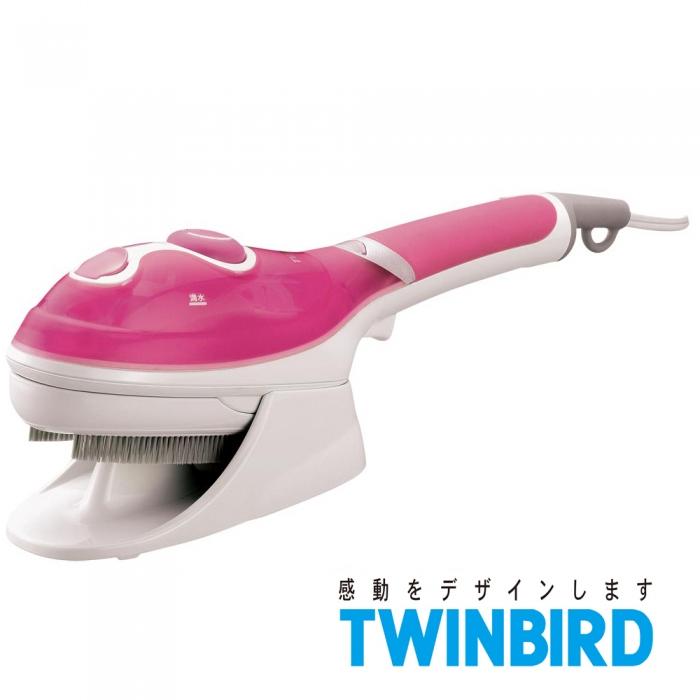 ★福利品★日本TWINBIRD-手持式蒸氣熨斗(粉)SA-4084P