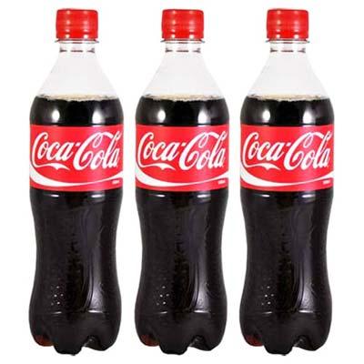 《可口可樂》 寶特瓶600ml(24入/箱 )(共三箱)