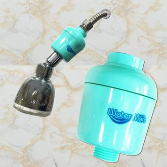 water more亞硫酸鈣奈米銀離子除氯沐浴器(1入)/除氯/淨水/蓮蓬頭可用 特賣