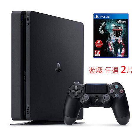 SONY PS4主機 CUH-2017系列500GB-極致黑+睡犬 決定版 中文版-專+任選遊戲片*1