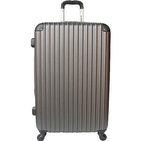 【YC Eason】超值流線型28吋可加大海關鎖款ABS硬殼行李箱(雅痞灰)