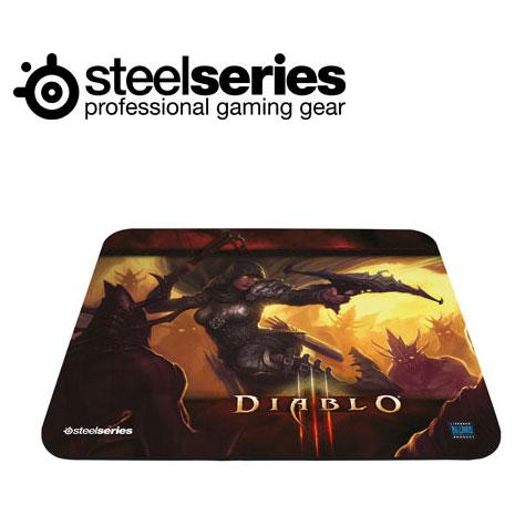 SteelSeries QcK 暗黑破壞神3 中布質鼠墊惡魔獵人版
