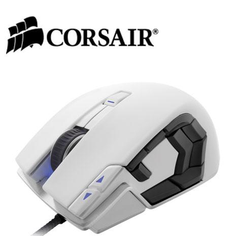 Corsair 海盜 Vengeance復仇者M95 MMO/RTS雷射滑鼠白色8200dpi