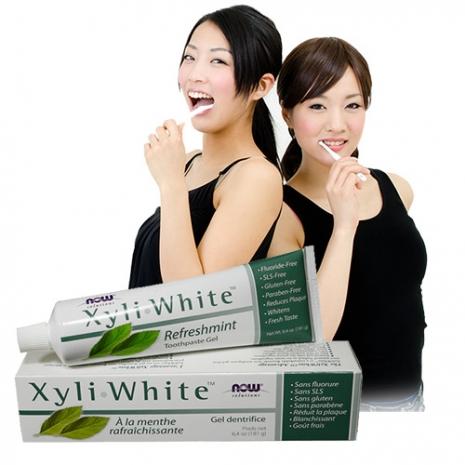 NOW健而婷─木糖醇潔白素食牙膏(181公克/條)(效期至2017/3)