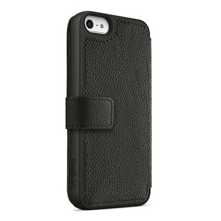 Belkin iPhone5 皮夾式保護套 黑