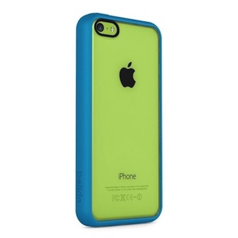 Belkin iPhone 5C 透明 PC 保護殼藍色