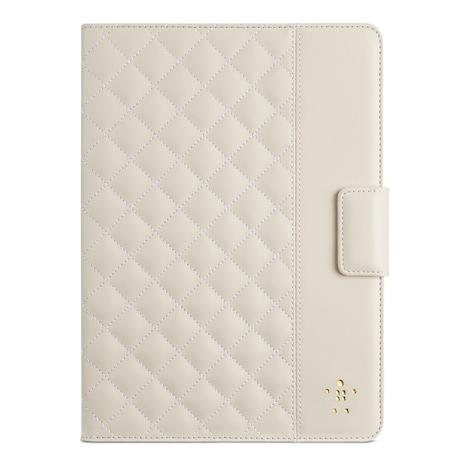 Belkin iPad Air 菱格紋 保護套 奶油白
