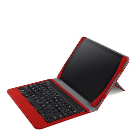Belkin iPad Air 超薄 藍芽鍵盤 保護套  紅