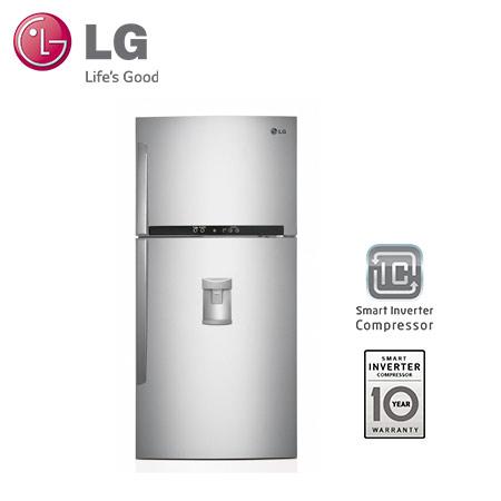 LG 600公升鮮淨系列上下門冰箱(典雅銀)GR-B803AV