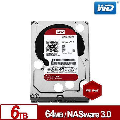 WD威騰 WD60EFRX 紅標 6TB 3.5吋NAS硬碟(NASware3.0)