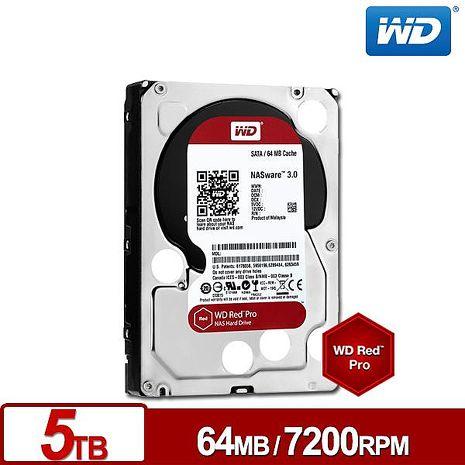 WD威騰 WD5001FFWX 旗艦紅標 5TB 3.5吋NAS硬碟
