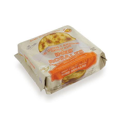 西班牙Ines Rosales 手工橄欖油薄餅 (甜橙x10包)
