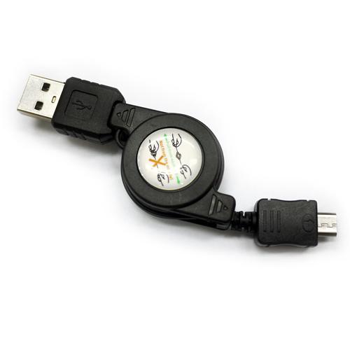 Micro USB 雙拉伸縮充電線 ^( 三星HTCSonyLG多款智慧型手機^)