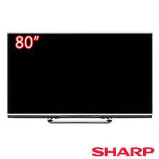 【夏普SHARP】80吋 四原色3D超薄液晶電視 LC-80XL10T