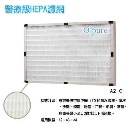 【Opure 臻淨】 醫療級HEPA空氣清淨機A2.A3.A4第二層HEPA濾網適用Honeywell 16600