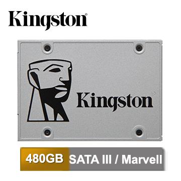 金士頓 SSDNow UV400 480GB 2.5吋 SATA-3 固態硬碟 (單碟包裝)