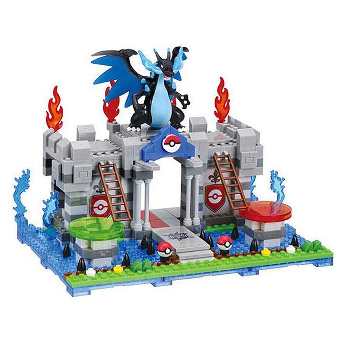 代理 精靈 寶可夢 神奇寶貝 河田積木 kawada nanoblock PP-005 噴火龍X的祕密城堡