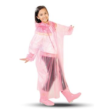 【達新牌】環保PVC童彩型雨衣 一件入